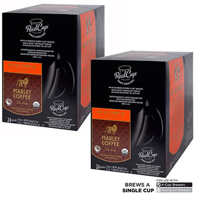 """Marley Coffee """"Get Up, Stand Up"""" Light Roast RealCups, Single Serve (48 ct.)"""