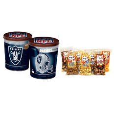 Oakland Raiders Popcorn Tin