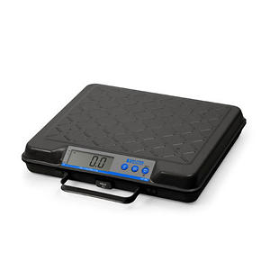 Brecknell - Portable Electronic Utility Bench Scale, 100lb Capacity, 12 x 10 Platform