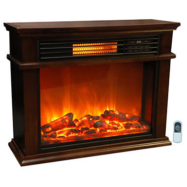 Lifesmart Compact Infrared Fireplace - Original Price $199.98, Save $40