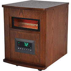 LifeSmart Lifepro Series 1000 Infrared Heater, Traditional Wood Cabinet