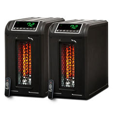 Lifesmart Lux Series Portable Infrared Heater w/ Remote – Dual Pack