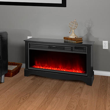 Lifesmart Zone Series 36 Low Profile Fireplace With Flame Effect And Infrared Heat System Sam