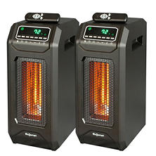 LifeSmart Infrared Heater Tower with Smart Boost Instant Heat (2 pk.)