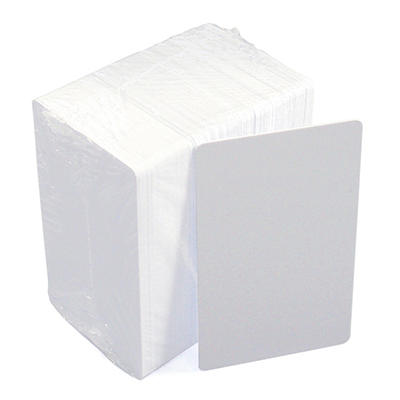 IDVille ID Badge Blank PVC Cards, 100 Pack