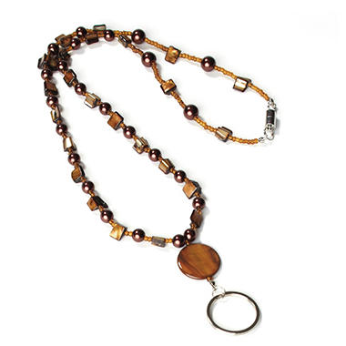 IDVille Beaded Lanyard - Brown