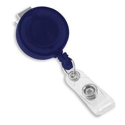 IDVille Retractable Badge Reels - Translucent Blue, 25 Pack
