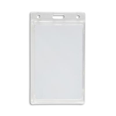 IDVille Vertical Hard Plastic Badge Holders, 50 Pack