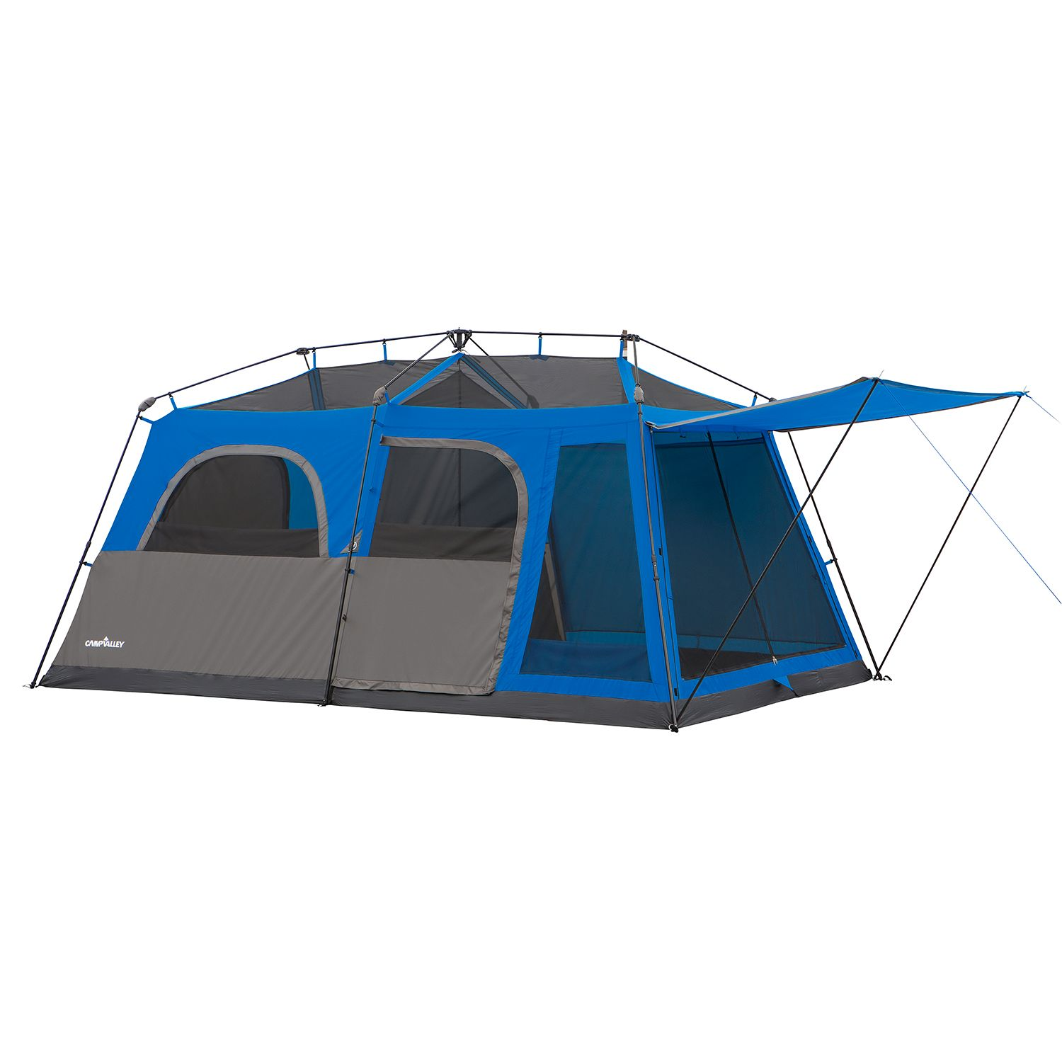 Campvalley 9 person instant cabin tent blue ebay for What is a tent cabin