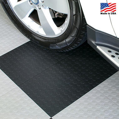 BlockTile - Modular Interlocking Garage Floor Tiles - 12? x 12? x 1/2? - 30 pk.