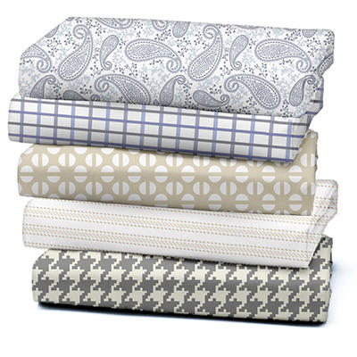 300 Thread Count Printed Sheet Set, Queen - Various Patterns