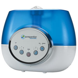 PureGuardian 100-Hour Ultrasonic Warm or Cool Mist Digital Humidifier, 1.5-Gallon