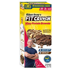Fit Crunch Whey Protein Brownie Variety - Cookie Dough and Chocolate (16 ct.)