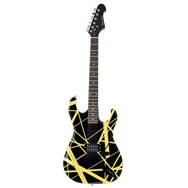 Spectrum AIL 55BY - Solid Body Full Size Straight Line Design Electric Guitar - Black & Yellow