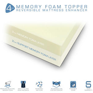 "ComforZen 4"" Memory Foam Mattress Topper - Select Size"