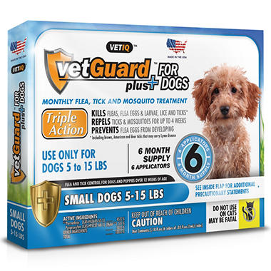 VetGuard Plus - Small Dogs - 5-15 lbs. - 6 month supply