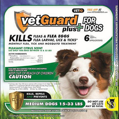 VetGuard Plus - Medium Dogs - 15-33 lbs. - 6 month supply