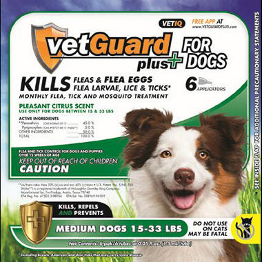 VetGuard Plus - Medium Dogs - 15-33 lbs. - 6 month supply