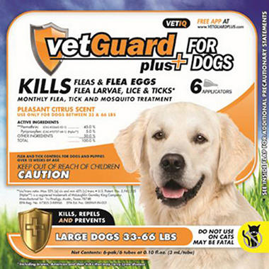 VetGuard Plus - Large Dogs - 33-66 lbs. - 6 month supply