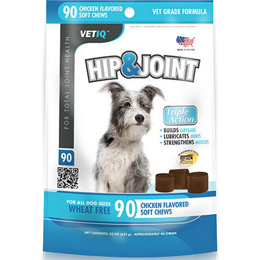 Vet IQ Hip & Joint Soft Chews for Dogs - 90 ct.