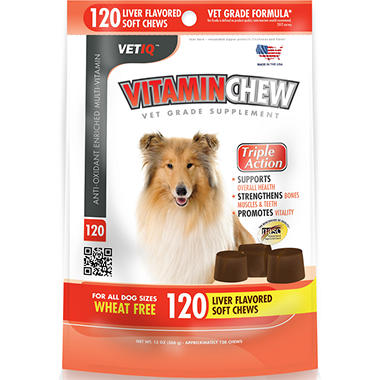 Vet IQ Vitamin Chews for Dogs - 120 ct.