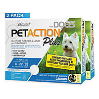 PetAction Plus for Dogs, 6 Doses (Choose Your Size)