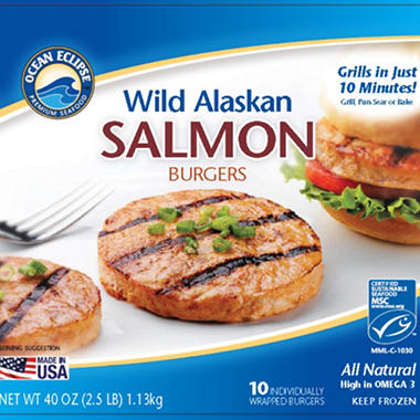 Ocean Eclipse Salmon Burgers - 2.5 lbs.