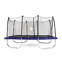 Skywalker Trampolines 15' Rectangle Trampoline and Enclosure, Blue