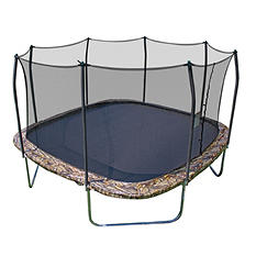 Skywalker Trampolines 14' Square Camouflage Trampoline and Safety Enclosure, Original Price $579.00