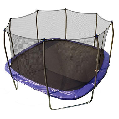 Skywalker Trampolines 13' Square Trampoline and Enclosure - Blue