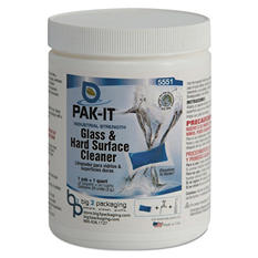 PAK-IT Glass & Hard Surface Cleaner Jar, Pleasant Scent (20 ct.)