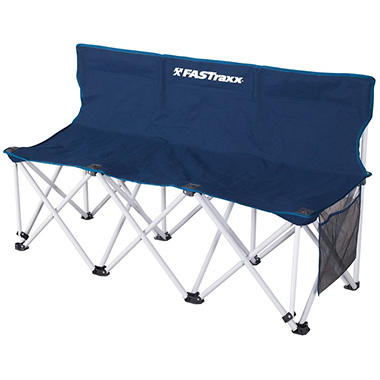 Fastraxx 3 Person Sports Bench Navy Sam S Club