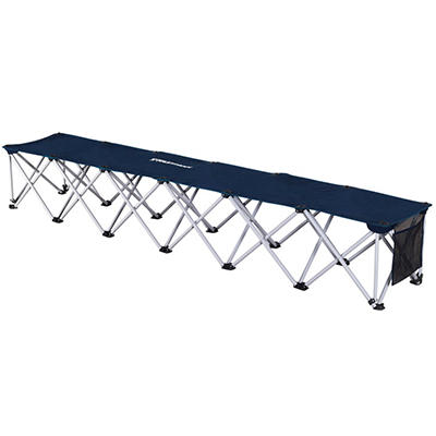Fastraxx 6 Person Sports Bench, Navy - Original Price $39.98, Save $10