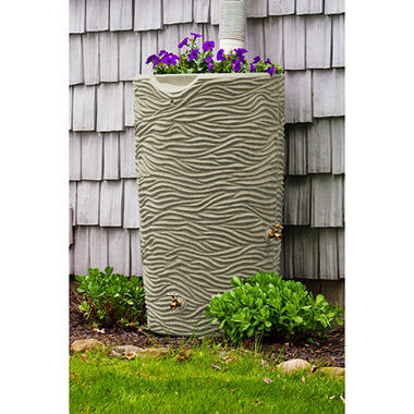 Impression Palm 65 Gallon Rain Saver - Sandstone