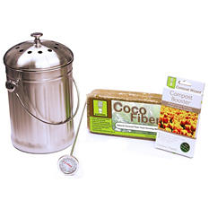 Compost Wizard Essentials Kit, Stainless Steel