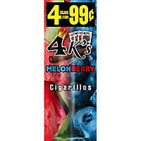 4Kings Melonberry Cigarillos (4 pk., 60 ct.)