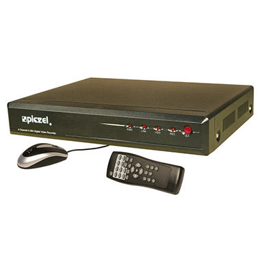 Piczel 5204  4 CH H.264 Codec DVR with 500GB HDD, Internet, 3G/4G Smartphone Monitoring, E-mail and Text Message Alerts