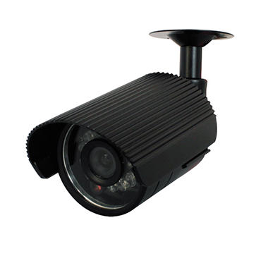 Piczel Model 155 Weatherproof IR Bullet Camera with Sun Shield, Super HAD CCD? Imager, and Audio