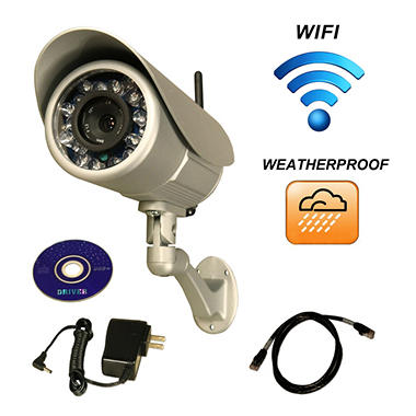 Piczel Wi-Fi Wireless Internet Weatherproof Camera with Smartphone Control and Image E-mail - Model 164