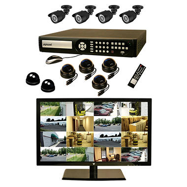 Piczel 7012 16 CH Surveillance System with 1TB Hard Drive, 22? LED Monitor, 8 High Res Cameras, E-Mail, & 3G Monitoring