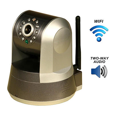 Piczel Wi-Fi Wireless Internet Motorized Pan/Tilt Camera with Smartphone Control and Image E-mail - Model 165