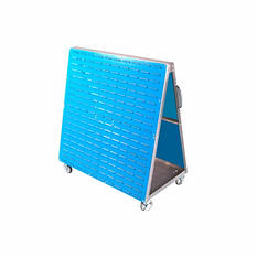 """LocBoard Rolling Louvered-Panel Tool Cart, 48"""" L x 51.5"""" H x 29.75"""" W"""