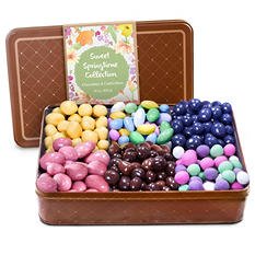 Mother's Day Spring Chocolate and Candied Nuts Collection Tin