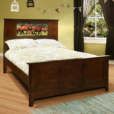 LightHeaded Beds Shaker Full Bed with Changeable back-lit LED Headboard Imagery (Various Colors)