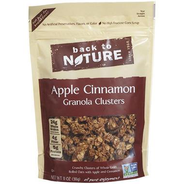 Back To Nature Apple Cinnamon Granola Clusters (11 oz. box, 6 ct.)