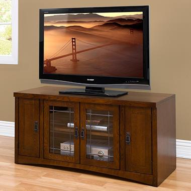 Mission Park Mid-Size TV Console - Oak