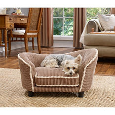 Enchanted Home Pet Snuggle Bed, Teddy Corduroy