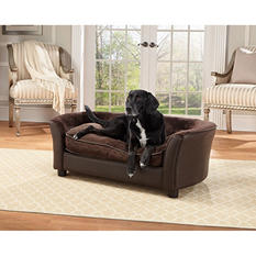 Enchanted Home Pet Ultra Plush Brown Panache Pet Sofa