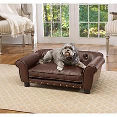 Enchanted Home Pet Brisbane Pebble Brown Pet Sofa