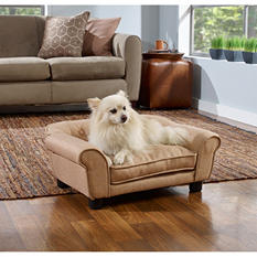 Enchanted Home Pet Sydney Beige Linen Tufted Pet Sofa
